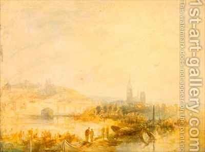 A Study of Rouen by Henry Thomas Dawson - Reproduction Oil Painting