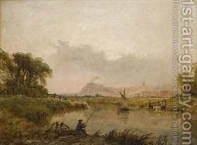 Nottingham from the Trent by Henry Thomas Dawson - Reproduction Oil Painting