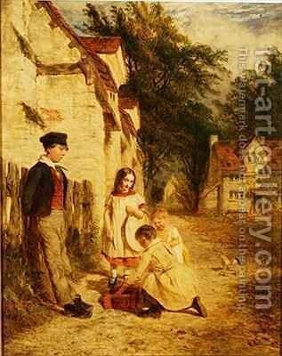 The Bird Trap by Henry Thomas Dawson - Reproduction Oil Painting