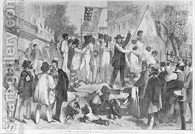 A Slave Auction at the South by (after) Davis, Theodore Russell - Reproduction Oil Painting