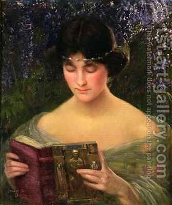 A Good Book by Stuart G. Davis - Reproduction Oil Painting