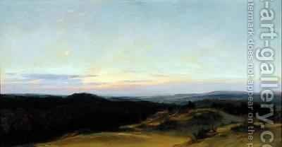 Sunset over a Landscape by Henry William Banks Davis - Reproduction Oil Painting