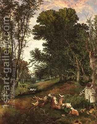 Towards Evening in the Forest by Henry William Banks Davis - Reproduction Oil Painting