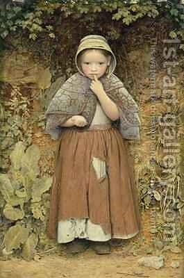 A Beggar on the Path by Edward Thomason Davis - Reproduction Oil Painting