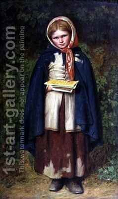 Alphabet Girl by E.T. Davies - Reproduction Oil Painting