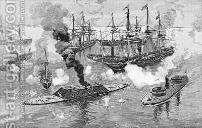Surrender of the Tennessee Battle of Mobile Bay by (after) Davidson, Julian Oliver - Reproduction Oil Painting
