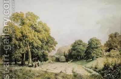 Haymaking Lewes Sussex by Charles Grant Davidson - Reproduction Oil Painting