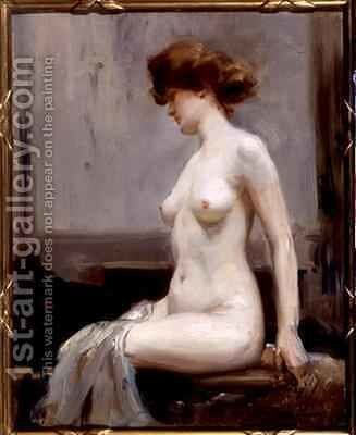 The Model by Allan Douglas Davidson - Reproduction Oil Painting