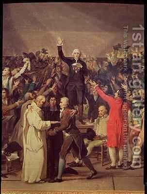 The Tennis Court Oath by (after) David, Jacques Louis - Reproduction Oil Painting