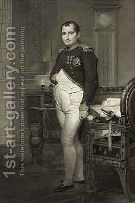 Napoleon I in his study 2 by (after) David, Jacques Louis - Reproduction Oil Painting