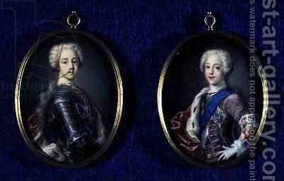 Prince Henry Benedict Stuart 1725-1807 and Prince Charles Edward Stuart 1720-88 by Antonio David - Reproduction Oil Painting