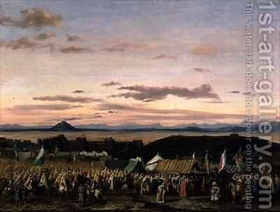 The Taking of Setif during the Conquest of Algeria by Adrien Dauzats - Reproduction Oil Painting