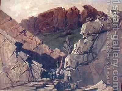 Expedition to the Portes der Fer Algeria by Adrien Dauzats - Reproduction Oil Painting