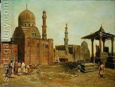 Mosques and Minarets by Adrien Dauzats - Reproduction Oil Painting