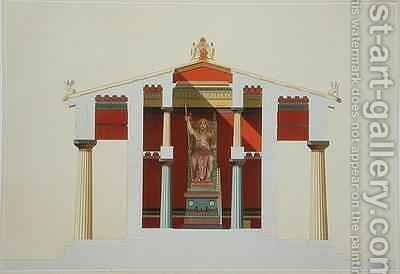 Transverse section of the Temple of Jupiter at Aegina by Daumont - Reproduction Oil Painting