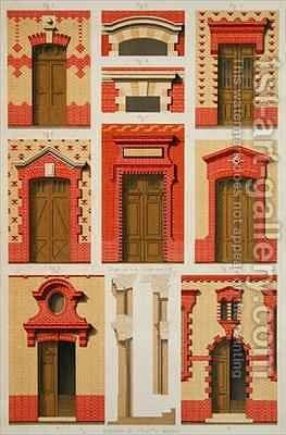 Designs for Projections and Pediments in Brick by Daumont - Reproduction Oil Painting