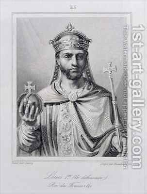 Louis I the Pious 778-840 Holy Roman Emperor by (after) Dassy, Jean Joseph - Reproduction Oil Painting