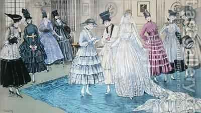 A Fete Parisienne Wedding Party in New York by Dartey - Reproduction Oil Painting