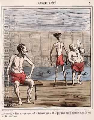Man the king of creation by Honoré Daumier - Reproduction Oil Painting