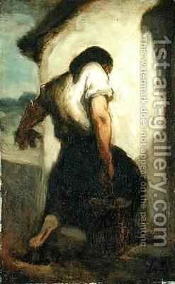 Water Carrier by Honoré Daumier - Reproduction Oil Painting