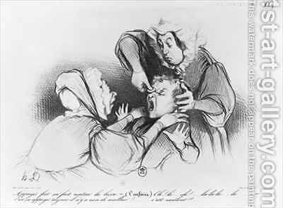Series Croquis dexpressions the bump by Honoré Daumier - Reproduction Oil Painting