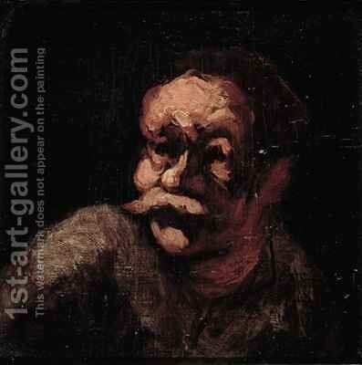 Head of a man by Honoré Daumier - Reproduction Oil Painting