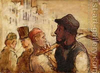 Workmen on the Street by Honoré Daumier - Reproduction Oil Painting