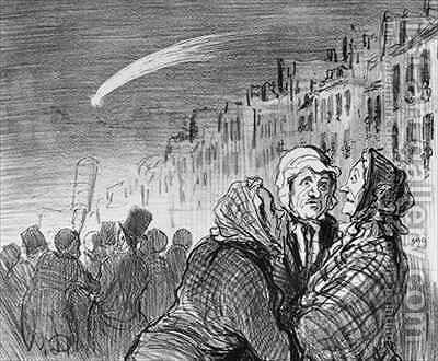 Series Actualites Ah yes those comets they always predict great misfortunes by Honoré Daumier - Reproduction Oil Painting