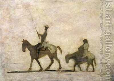 Don Quixote and Sancho Panza 2 by Honoré Daumier - Reproduction Oil Painting