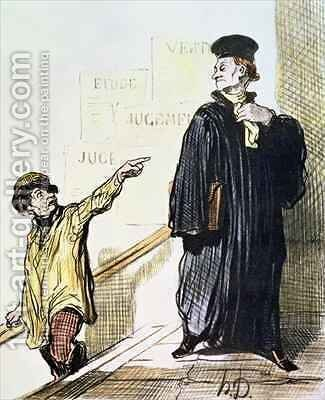 An Unsatisfied Client from the series Les Gens de Justice by Honoré Daumier - Reproduction Oil Painting