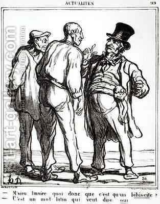 Cartoon about the plebiscite of 8th May 1870 by Honoré Daumier - Reproduction Oil Painting