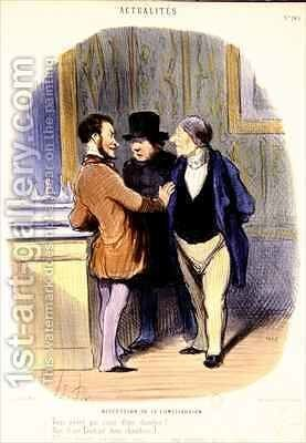 Discussion about the Constitution by Honoré Daumier - Reproduction Oil Painting