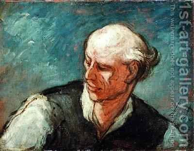 Head of a Man 2 by Honoré Daumier - Reproduction Oil Painting