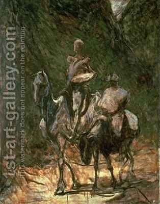 Sancho Panza and Don Quixote by Honoré Daumier - Reproduction Oil Painting