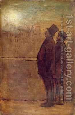 The Night Walkers by Honoré Daumier - Reproduction Oil Painting