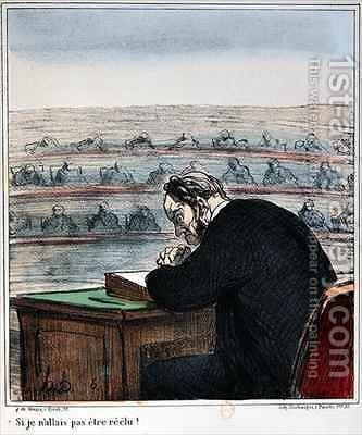 Caricature of a Deputy at the Assembly by Honoré Daumier - Reproduction Oil Painting