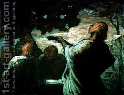 The Serenade by Honoré Daumier - Reproduction Oil Painting