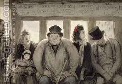 The Omnibus by Honoré Daumier - Reproduction Oil Painting