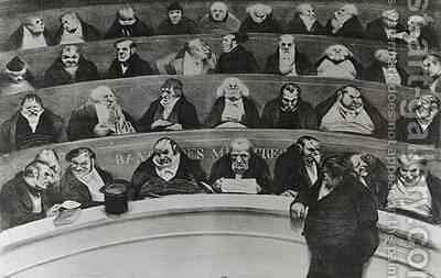 The Stomach of the Legislature the Ministerial Benches of 1834 by Honoré Daumier - Reproduction Oil Painting