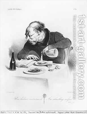 Series Galerie physionomique Une lecture entrainante An absorbing subject by Honoré Daumier - Reproduction Oil Painting