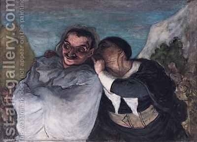 Crispin and Scapin or Scapin and Sylvester by Honoré Daumier - Reproduction Oil Painting