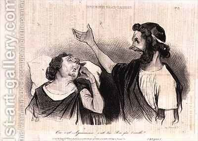Physiognomy of the Characters of Classical Tragedy Yes it is Agamemnon your king who awakens you by Honoré Daumier - Reproduction Oil Painting