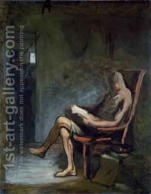 Don Quixote Reading 2 by Honoré Daumier - Reproduction Oil Painting