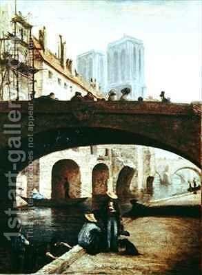 Notre Dame de Paris by Honoré Daumier - Reproduction Oil Painting