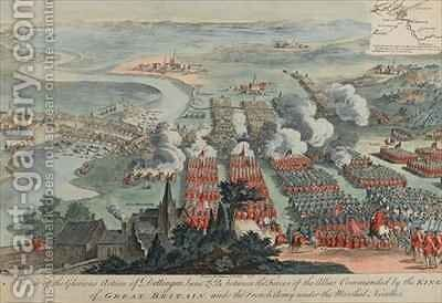 A View of the Glorious Action of Dettingen by (after) Daremberg, F. - Reproduction Oil Painting