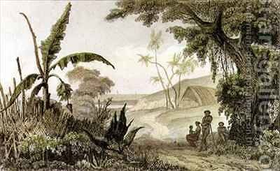 Tanna Island New Hebrides by C. Danvin - Reproduction Oil Painting