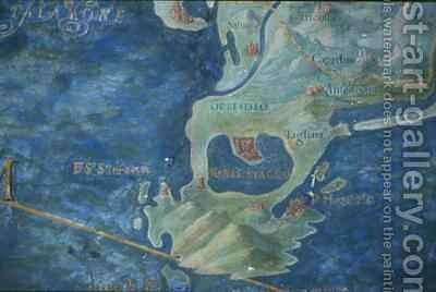 Orbetello and Monte Argentario by Egnazio Danti - Reproduction Oil Painting