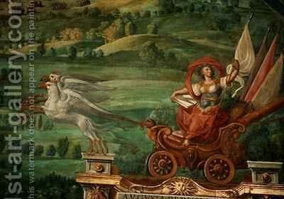 Chariot drawn by griffins by Egnazio Danti - Reproduction Oil Painting