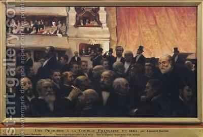 First Night at the Comedie Francaise in 1885 by Edouard Dantan - Reproduction Oil Painting