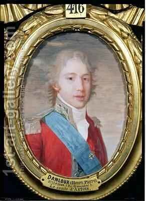 Portrait of Charles of France 1757-1836 by Henri Pierre Danloux - Reproduction Oil Painting